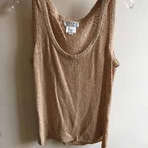 St. John Sport Pink and Tan Speckled Knit Tank Top